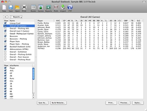 Baseball Statbook 3.5.4b full